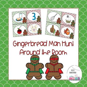 Gingerbread Hunt Around the Room Digraphs