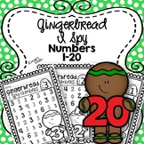 Gingerbread I Spy Numbers 1-20 {Distance Learning}