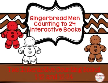 Gingerbread Interactive Counting to 12 and 24 Books