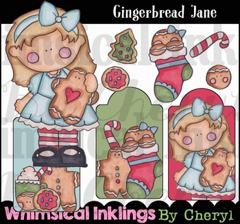 Gingerbread Jane Clipart Collection