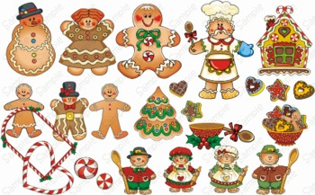 Gingerbread Joy Graphics Clip art