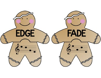 Gingerbread Jumble: Identifying 4-Letter Words in the Treble Clef Staff