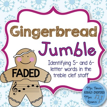 Gingerbread Jumble: Identifying 5- and 6-Letter Words in t