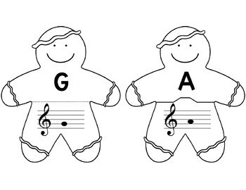 Gingerbread Jumble: Identifying the Notes of the Treble Clef Staff