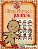 Gingerbread Jumble Ten Frame Math Game