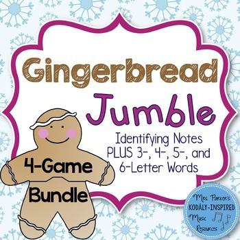 Gingerbread Jumble: Treble Clef Bundle