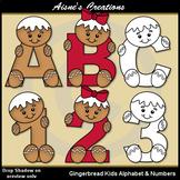 Gingerbread Kids Alphabet & Numbers