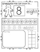 Gingerbread Number Practice Printables - Recognition, Tracing, Counting 1-20