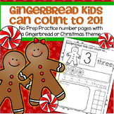 Gingerbread Number Practice Printables - Recognition, Trac