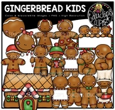Gingerbread Kids Clip Art Bundle {Educlips Clipart}