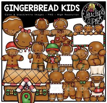 Gingerbread Kids Clip Art Bundle {Educlips Clipart}