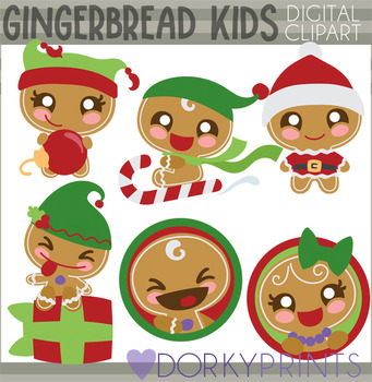 Gingerbread Kids Clipart