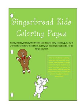Gingerbread Kids Freebie!