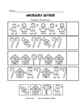 Gingerbread Kindergarten Math Pack