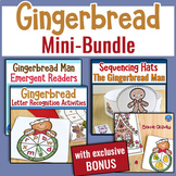 Gingerbread Kindergarten Literacy Mini-BUNDLE