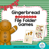 Gingerbread Language File Folder Games