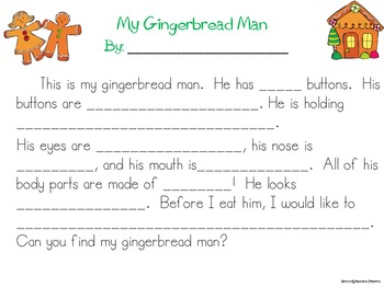 Gingerbread Language Pack: Listening & Describing