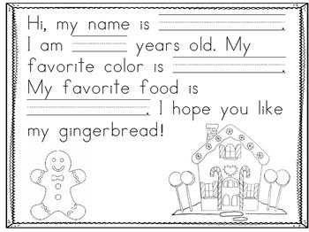 Gingerbread Letter