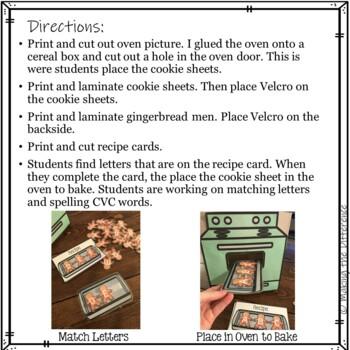 Gingerbread Letter Baking - Preschool Activity