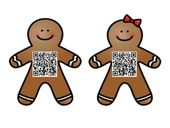 Gingerbread Letter Hunt: QR Codes