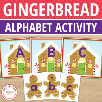 Gingerbread Activities | Gingerbread Literacy Activities | Alphabet Freebie