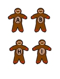 Gingerbread Letter Matching