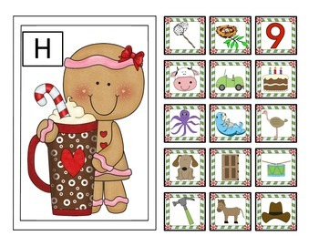 Gingerbread Letter Sound Sort for N, C, O, D, H