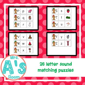 Gingerbread Letter Sounds Matching Busy Box