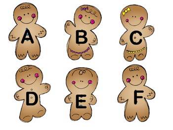 Gingerbread Letters