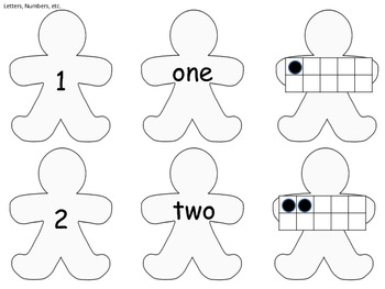 Gingerbread Letters, Numbers, and Templates