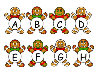 Gingerbread Letters and Numbers