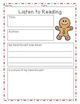 Gingerbread Listen to Reading