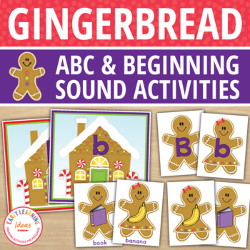 Gingerbread Literacy Activities | Alphabet & Beginning Sound Activity