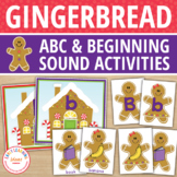 Gingerbread Literacy Activities | Alphabet & Beginning Sou
