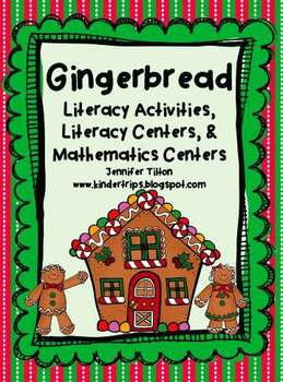 Gingerbread Man Literacy Activities with Literacy & Mathematics Centers