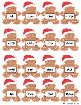 Gingerbread Literacy Center - Blends and Digraphs Bundle