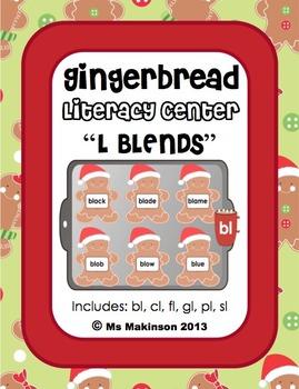 """Gingerbread - Literacy Center (""""L"""" Blends)"""
