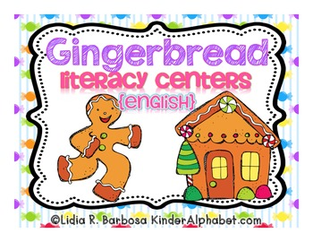 Gingerbread Literacy Centers {English}