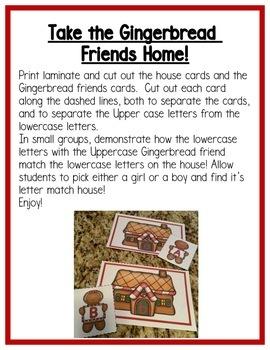 Gingerbread Literacy Centers: Letters for Preschool, PreK, & K