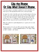 Gingerbread Literacy Centers: Rhyming For Preschool, PreK, &K