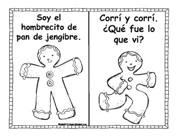 Gingerbread Literacy Centers- Spanish