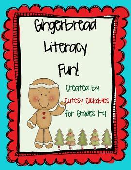 Gingerbread Literacy Fun Common Core Aligned