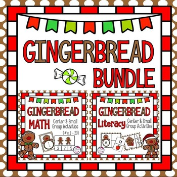Gingerbread Literacy and Math MEGA Pack ~ ABC, Number Recognition, Patterns