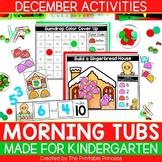 December Morning Tubs for Kindergarten