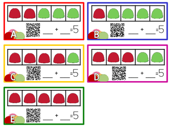 Gingerbread Literacy and Math Activities with QR Code Task Cards