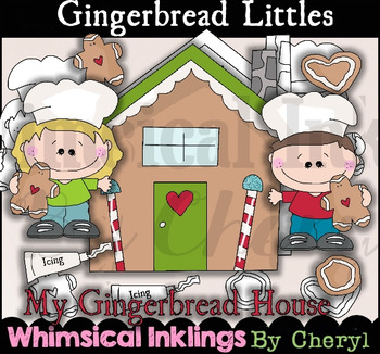 Gingerbread Littles Clipart Collection
