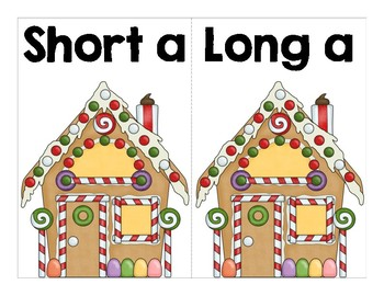 Gingerbread Long a Short a Word Sort