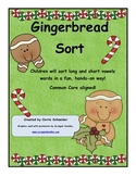 Gingerbread Long and Short Vowel Sort