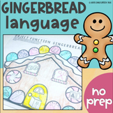 Gingerbread No Prep Language Activities for Speech Therapy