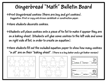 Gingerbread MATH Bulletin Board
